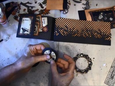 Envelope Mini album tutorial with Steampunk Spells collection part 9