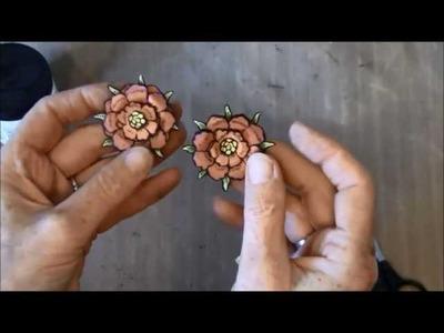 Flower Tutorial- Steampunk Spells and Bohemian Bazaar Graphic 45 Design team package