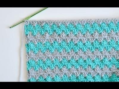 Granny Stripe Baby Blanket Tutorial