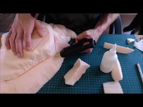 How to add bits of polystyrene (stryofoam) back on to your wargaming hills