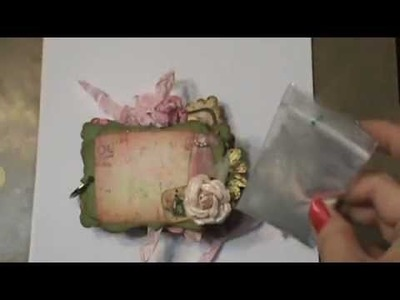 How to add Shabby Chic sparkle to your watercolor with mica powder