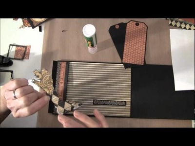 How to build a photo mini album with G45 Olde Curiosity Shoppe paper collection Part 5a