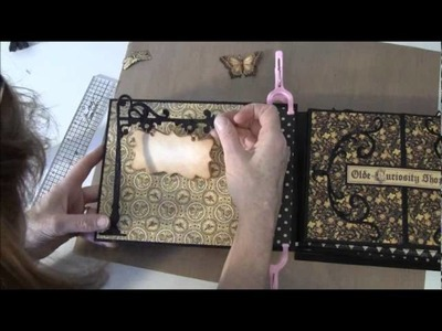 How to build a photo mini album with G45 Olde Curiosity Shoppe paper collection Part 17