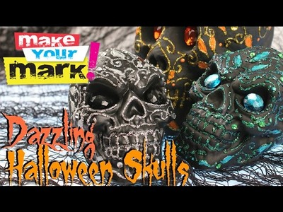 How to: Dazzling Halloween Skulls