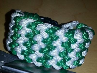 How to do 2 color conquistador weave