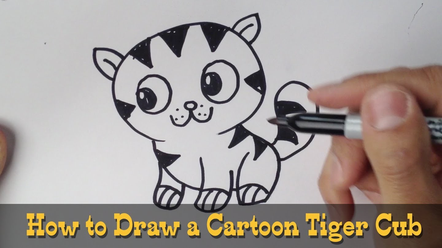 How to Draw a Tiger Cub