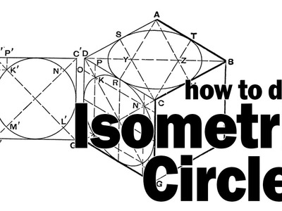 How to draw circles in a isometric drawing