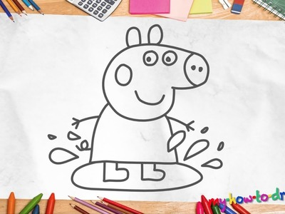 How to draw Peppa Pig - Easy step-by-step drawing lessons for kids