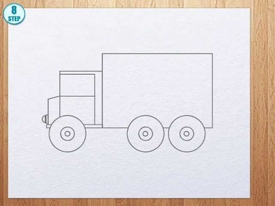 How to draw truck