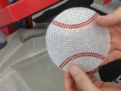 How to Make a Baseball Rhinestone Car Window Decal Bling-N-E-Thing The Rhinestone World