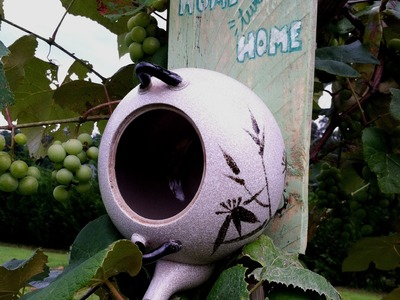 How to Make a Bird House from a Tea Pot