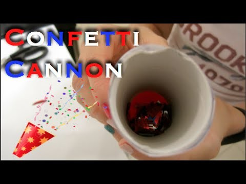 How To Make A Confetti Cannon For Kids!