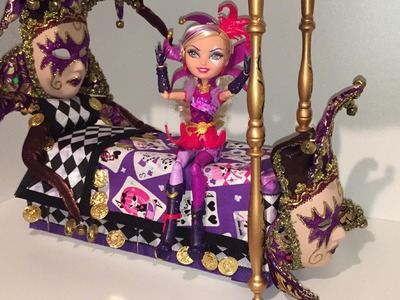 HOW TO MAKE A CRAZY COURTLY JESTER DOLL BED [EVER AFTER HIGH]