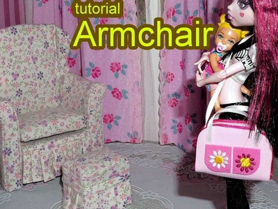 How to make a doll armchair for Barbie, Monster High, MLP, EAH, etc