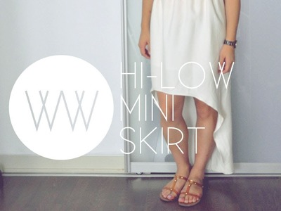 How to Make a High-Low Mini Skirt