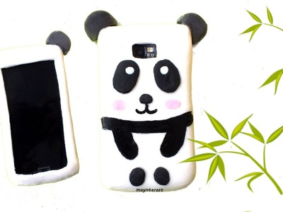 How to make a SILICONE PHONE CASE - Kawaii panda