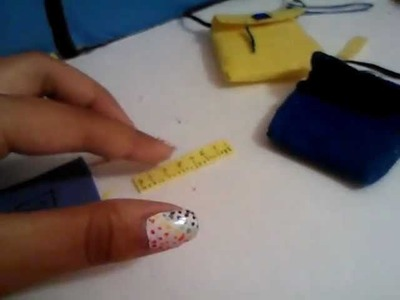 How to make doll school supplies(bag, notebook, pencil, ruler, colored pencils)