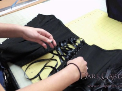 How to: Put New Lacing in Your Corset | Lacing Your Corset DIY by Dark Garden Expert Fitter