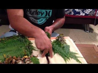 KUANA TORRES KAHELE Lei Palapalai + Loke (tutorial) 1 of 2