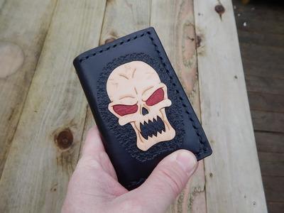 LeatherWork8.Making a card wallet