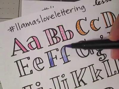 Llamas Love Lettering Lesson #4