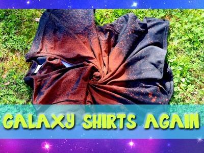 Making GALAXY Shirts AGAIN (a Pinterest Craft) - @dramaticparrot