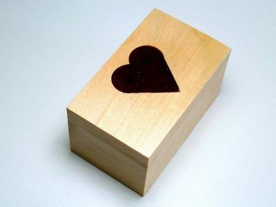 Making wooden valentine's day box