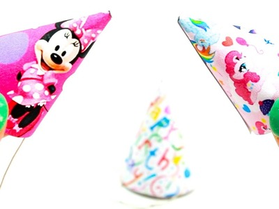 Miniature dollhouse birthday party hats tutorial (my little pony, minnie mouse) l Dollhouse DIY ♥