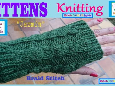 "Mittens Gloves Knitting  Pattern ""Jazmín"" by Maricita Colours in English"
