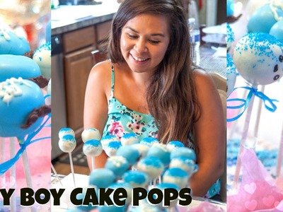 Mustache & Baby Boy Cake Pops- Baby Shower Treats | SavvySweets