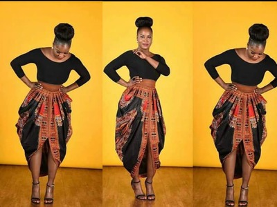 One Yard Dashiki skirt● Cowl Skirt