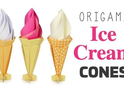 Origami Ice Cream Cone Tutorial - Music Only