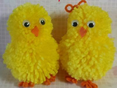 Pompom chick & bunny tutorial
