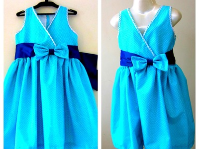 PRETTY FROCK FOR UR PRINCESS- EASY DRAFTING, CUTTING & SEWING