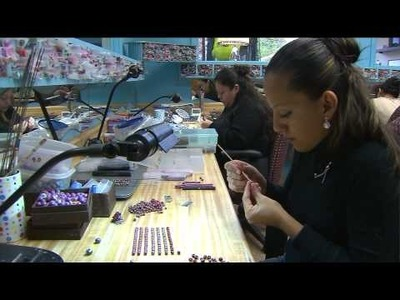 """""""She Beads,"""" hand rolled jewelry made in Chicago"""