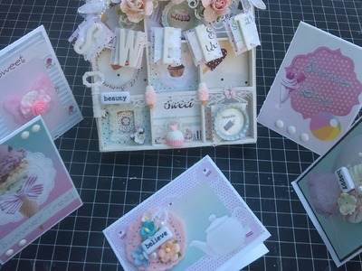 {SWEET} Altered Tray and Easy Note Cards {{KSP}}