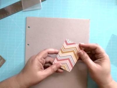Tiny photo album for pocket letters