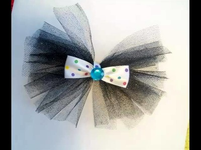 Tulle Hair Bows | Beautiful Tutu Decor Art Work Picture Collection And Ideas Romance