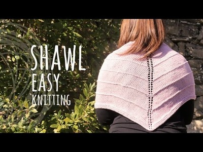Tutorial Basic Knitting Shawl