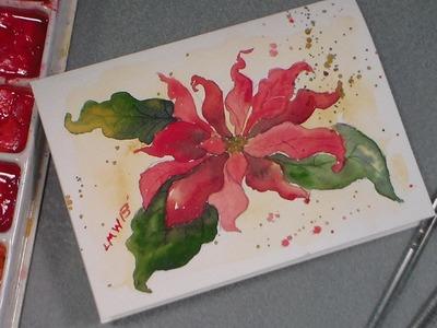 Watercolor poinsettia tutorial