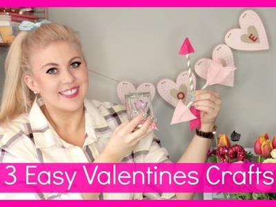 3 Easy Valentines Crafts!!