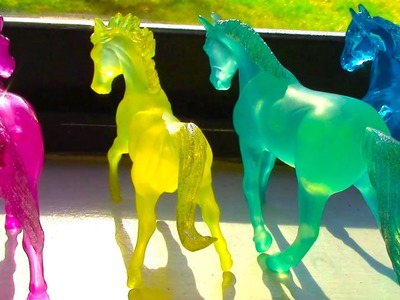 Breyer Horse Crazy Stablemates Opening Review - Fantasy Colors Frosted Horses Video