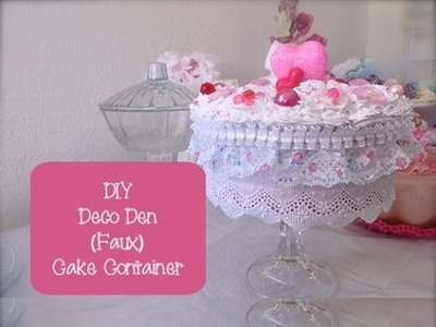 Chic and Cheap: Deco Den Valentines Day Inspired (Faux) Cake