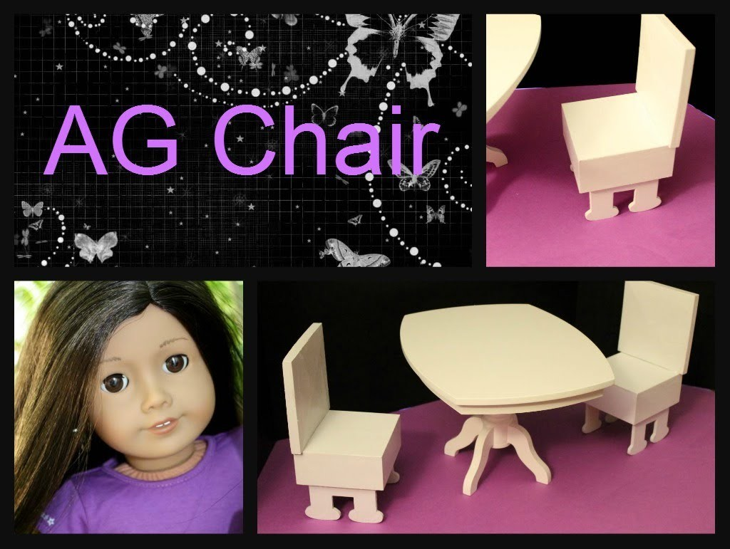 Dining Room Chair for American Girl Dolls How To Make for Less Than $5