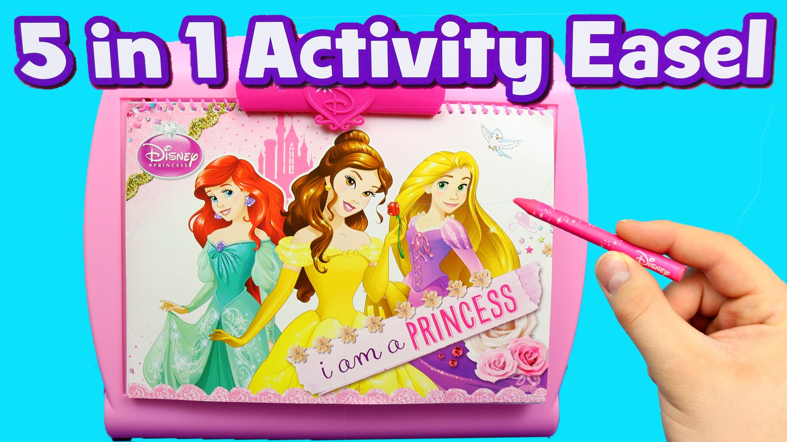 Disney Princess Art Easel Color Game & Drawing Toy Set Fun Stickers, Paint & Magic Marker