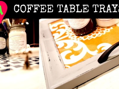 DIY Easy Coffee Table Trays