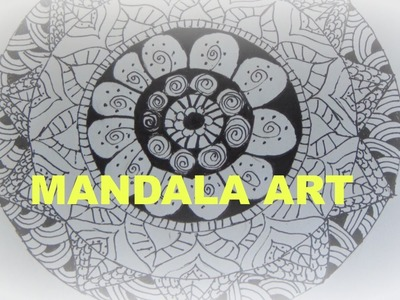 DIY: HOW TO DRAW MANDALA ART (easy & simple) for beginners-tutorial
