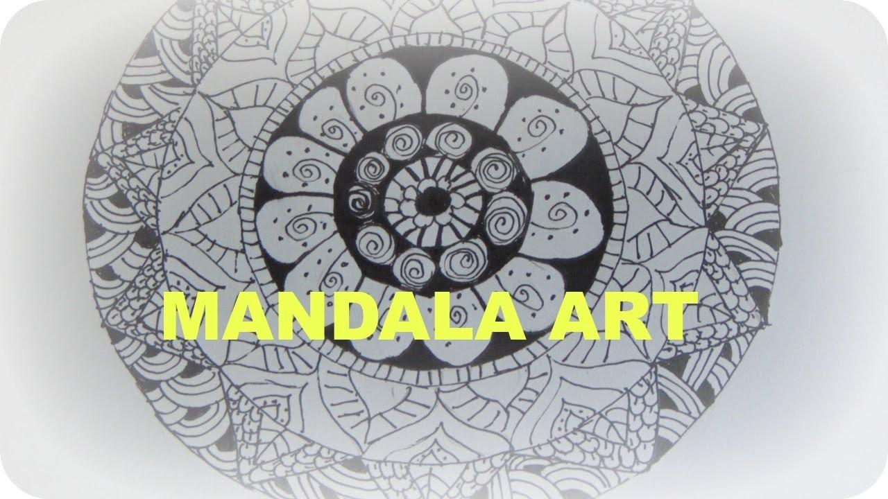Diy How To Draw Mandala Art Easy Simple For Beginners Tutorial