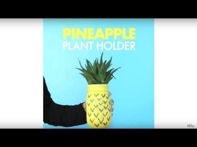 DIY Pineapple Mason Jar Planter