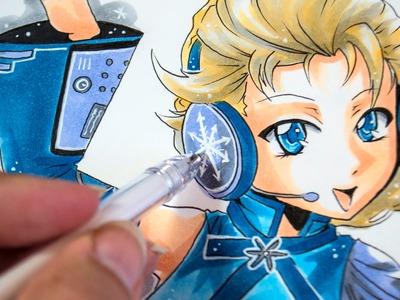 Drawing Vocaloid Princesses: Vocaloid Frozen Elsa